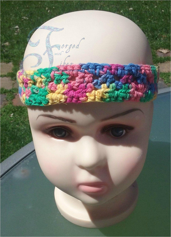 Crochet Rainbow Adjustable Headband for Child or Adult