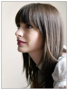 images of long bob hairstyles with bangs Straight Bangs Straight Haircuts Straight Hair Styles