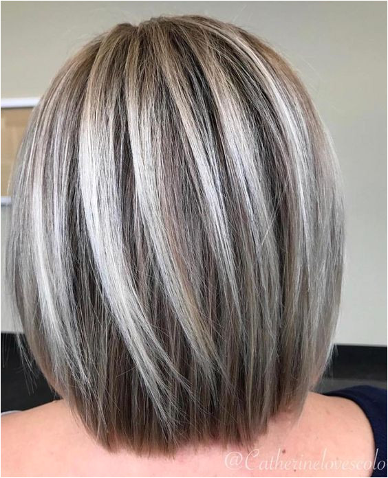 60 Fun and Flattering Medium Hairstyles for Women going gray and beautiful