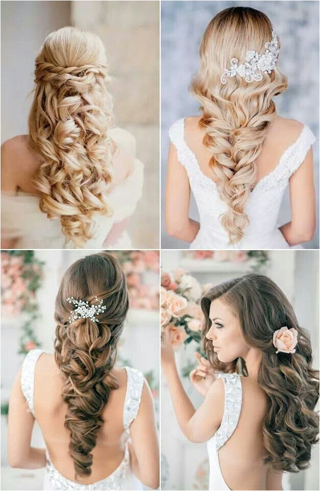 Hairstyles with Hair Left Down Wedding Hair Wedding Ideas Pinterest
