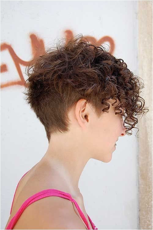 Cute Short Side Shaved Curly Hair