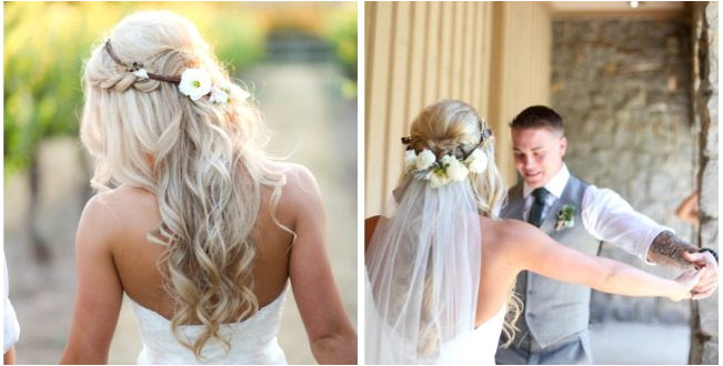braided half up half down hairstyle with veil 651x330