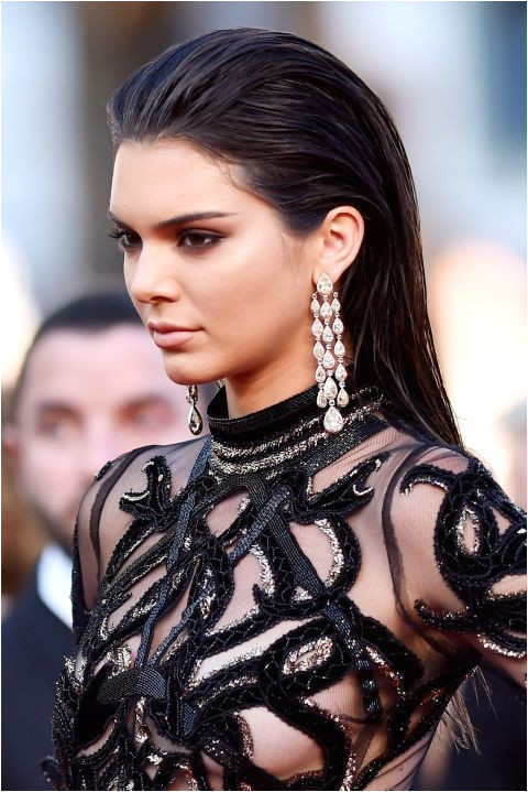 Kendall Jenner pulls off a red carpet fave the wet slicked back hair look