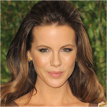 Kate Beckinsale Half up half down hairstyle