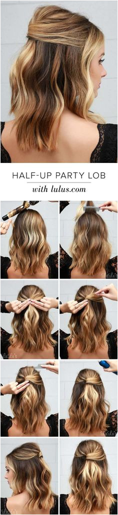 18 Half Up Hairstyles For Short and Medium Length Hair To Try Now