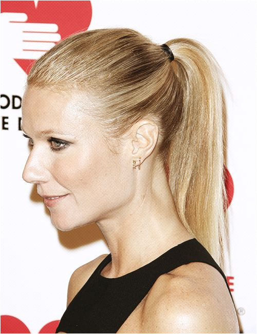 Gwyneth Paltrow Hairstyle For Thin Hair Sleek Ponytail d9bc508eceb57b00e c c3d