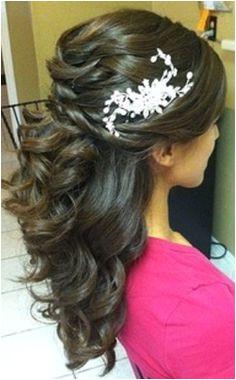 Wedding Day Hairsyle Half up half down hairstyles for medium length hair HairstylesForWomenIndian Wedding