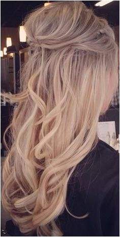 Curly half up half down hair gorgeoushair Loose Wave Hairstyles Formal Hairstyles Down