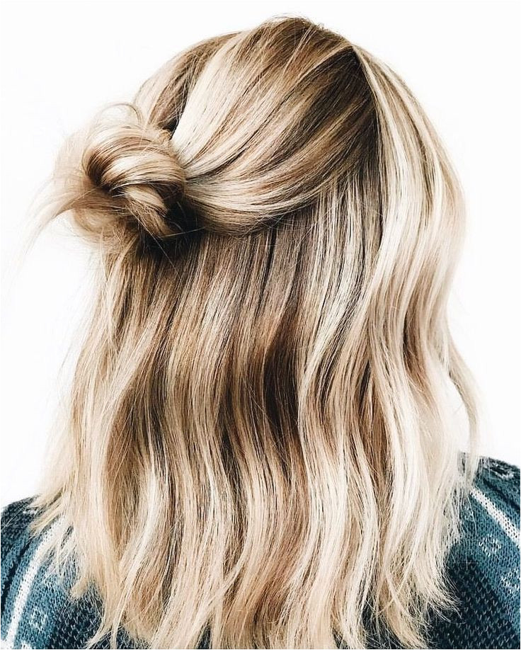 Half Up Messy Hairstyles Half Up Messy Bun Easy Hairstyles In 2019