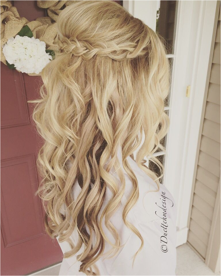 Idée coiffure de mariage tendance 2017 Image Description Chic wedding hairstyles for long hair From soft layers braids & chignons to half up half down