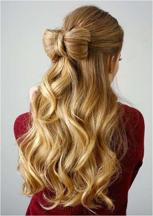 100 Trendy Long Hairstyles for Women Half Up Hair Bow AfroHairstyles4cHair