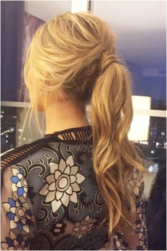 Does your holiday hair have to be super plex Not at all Sometimes going for a nice voluminous ponytail can be more than enough