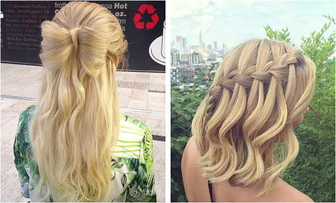 Home ing Hairstyles for Medium Hair Awesome 31 Half Up Half Down Prom Hairstyles