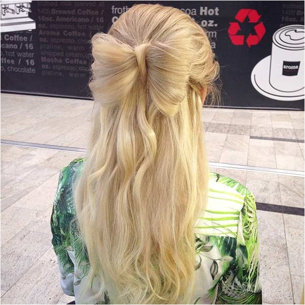 Half Up Hair Bow Hairstyle for Prom