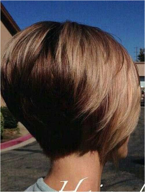 Short Stacked Bob Cut New Medium Hairstyles