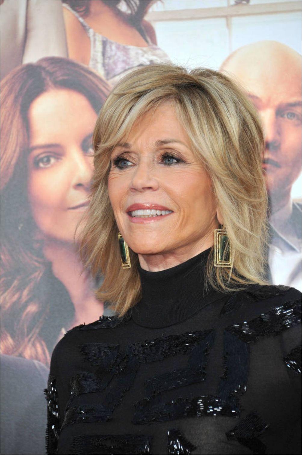 Jane Fonda layered hairstyle