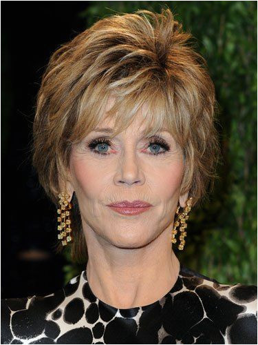 Jane Fonda formal short hairstyle