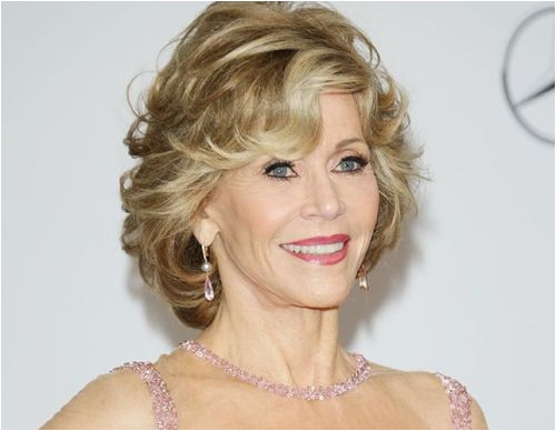 Jane Fonda curly hairstyle