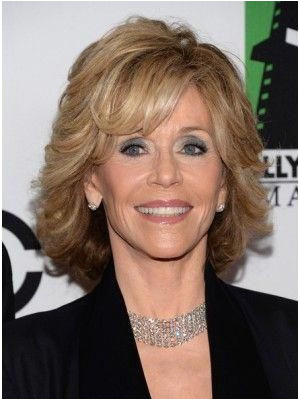 Jane Fonda Medium Wavy Cut Wig mediumwavyhairstyles