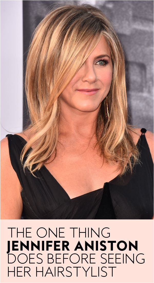 This is the one thing Jennifer Aniston does before seeing her hairstylist jenaniston hairtips hairsalontips jenniferaniston