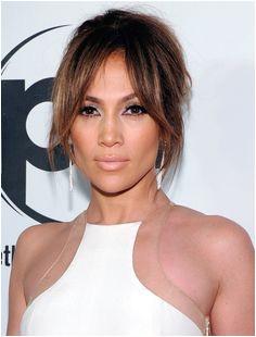 Jennifer Lopez Hair Frisur Lange Haare Pony Schöne Haare Mittelscheitel Balayage Haare Blond