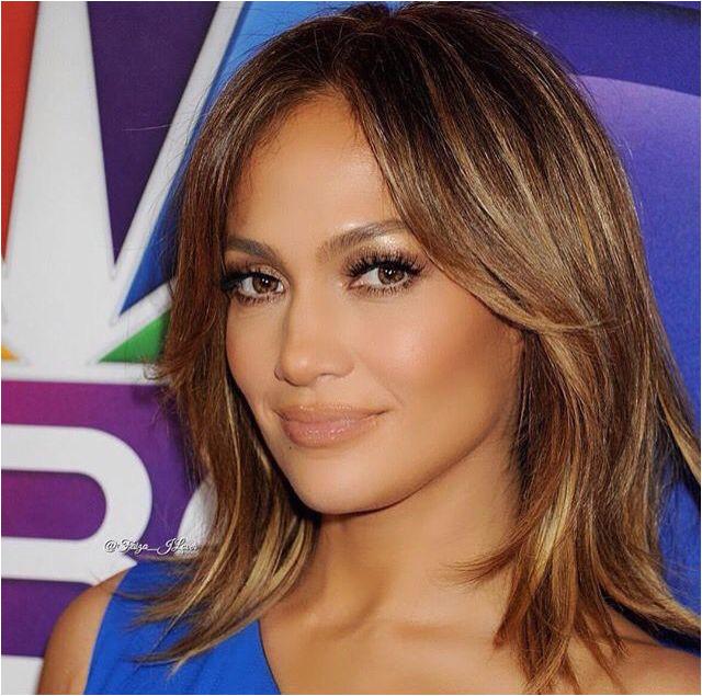 J lo short hair brownish golden highlights