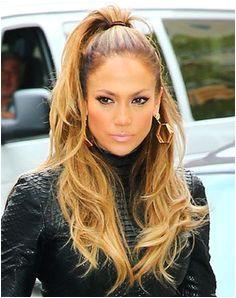 Jennifer Lopez s Half Ponytail