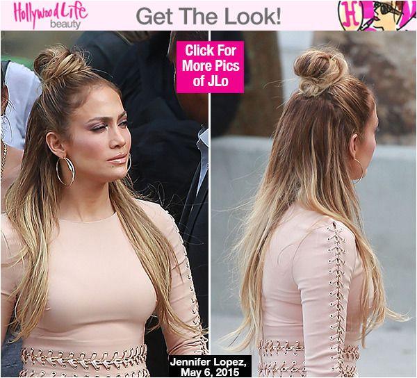 Jennifer Lopez Pin Up Hairstyles Jennifer Lopez S Half Up Half Down Hairstyle Idol — Trend to