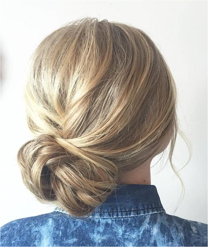 60 Updos for Thin Hair That Score Maximum Style Point Casual Side Bun Updo