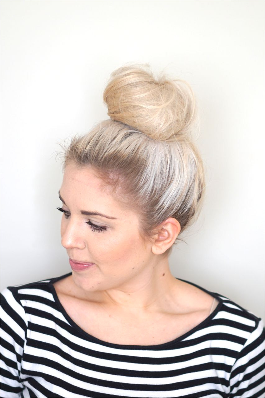How to make a messy bun with thin hair
