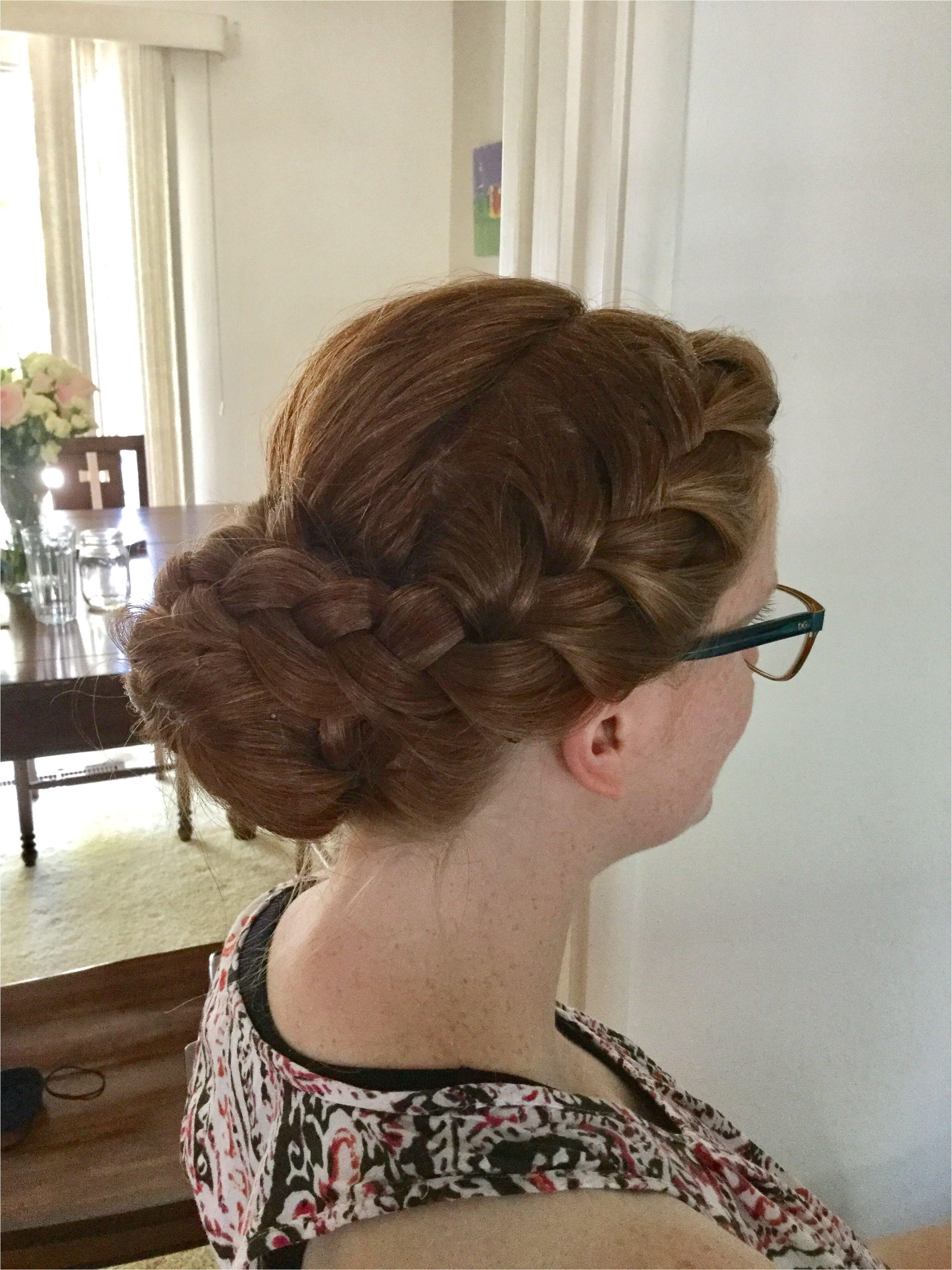 So Cal summer wedding hairstyle from Pinterest done by Jessie sister