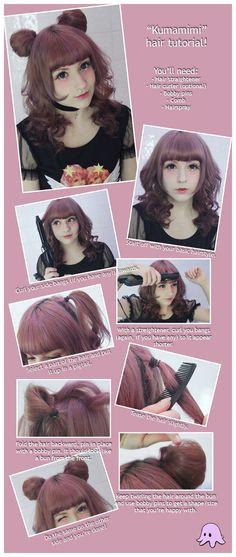 Kawaii hairstyles · Inspiraciones del pas del Sol Naciente o sea o las japonesas se peinan 16
