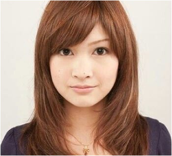 round face medium long asian hairstyle