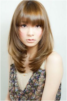 Korean Long Hair with Bangs 68 Best Korean Hair Color Images