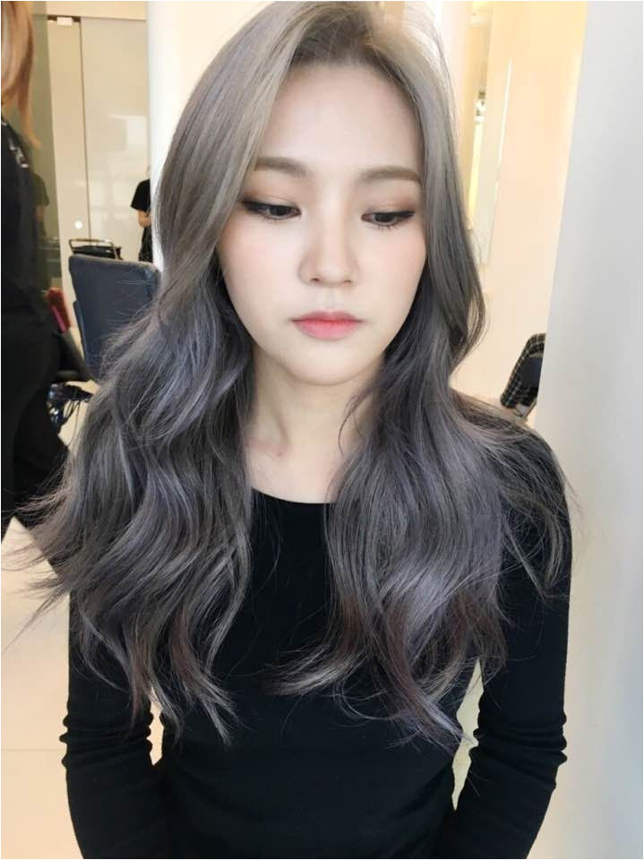korea korean kpop idol actress 2017 hair color trend for winter fall lavender ash brown hairstyles for girls kpopstuff