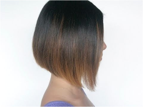 How to cut an A line bob hairstyle on your self at home Cut our own hair This Youtube user has a lot of other good hair tutorials as well