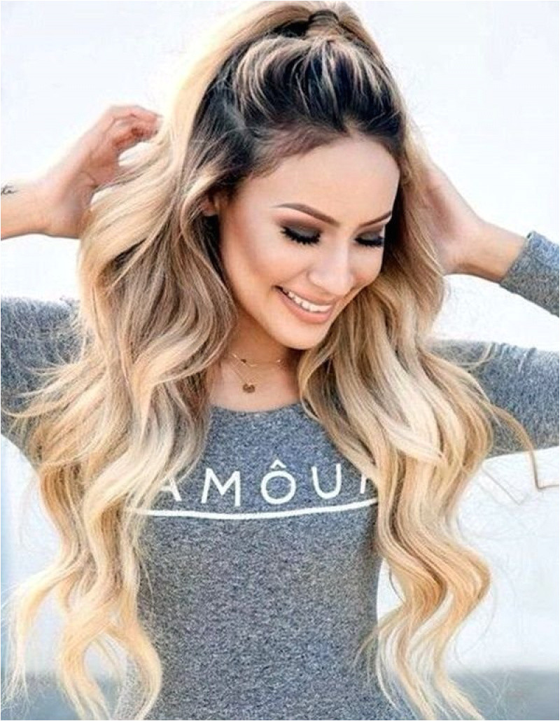 Long Hairstyles Dyed Easy Cute Crimped Hairstyles