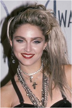 January No one had to ask who s that girl when Madonna hit the red carpet of the American Music Awards in a sultry Jean Paul Gault veronicaaa · 80s glam