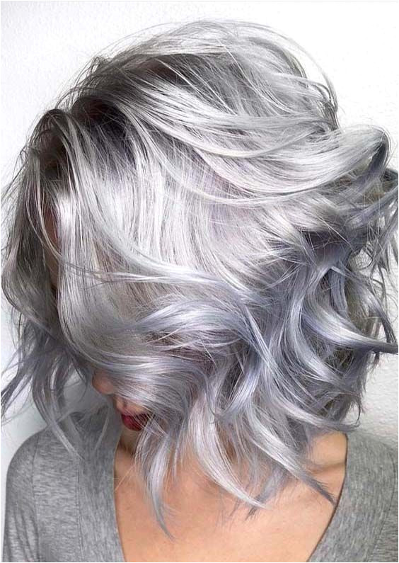 15 Awesome Trending Grey Hair 2018 That Look Futuristic And Modern Hairstyles Ideas