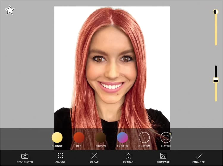 Try a brand new hair color virtually in just seconds with the Hair Color application See the effects applied live on yourself requires iOS 11 or applied