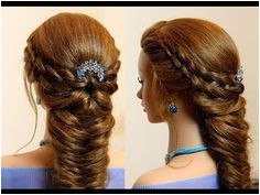 Easy hairstyle for long hair 4 Strand and Fishtail Braid bo