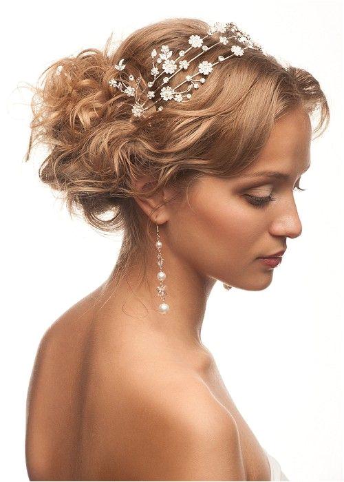 medium blonde straight coloured bridal wedding tiara Womens hairstyles for women