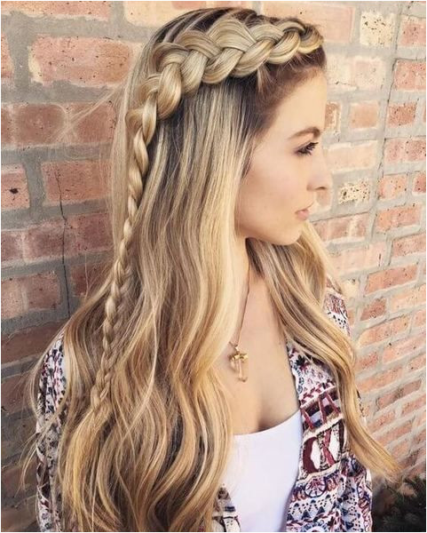 Long side braid might be a great hairstyle for dancing all night long Choose some open space wavyhair hairstyle