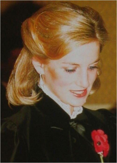 Princess Diana with long hair