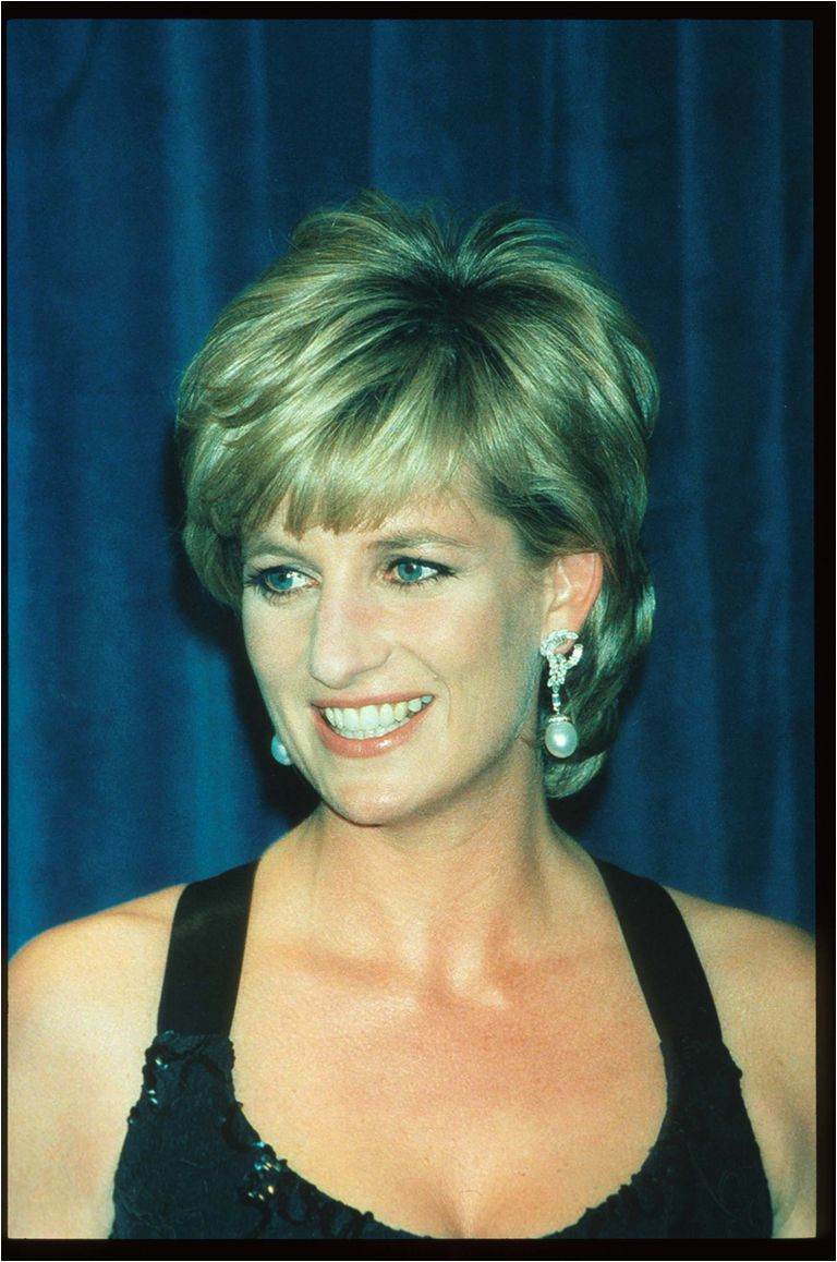 A picture of Lady Diana Spencer smiling at an awards gala