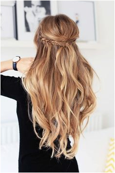 18 Elegant Hairstyles for Prom 2019 Hair Down With Braid · Half Up