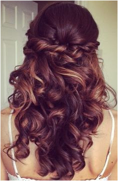 Half Up Half Down Hairstyle For Curly Hair Prom Long Hairstyles Deva Hairstyles