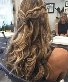 half up half down hair easy Half Up Half Down Hairstyles for Bridesmaids Wedding