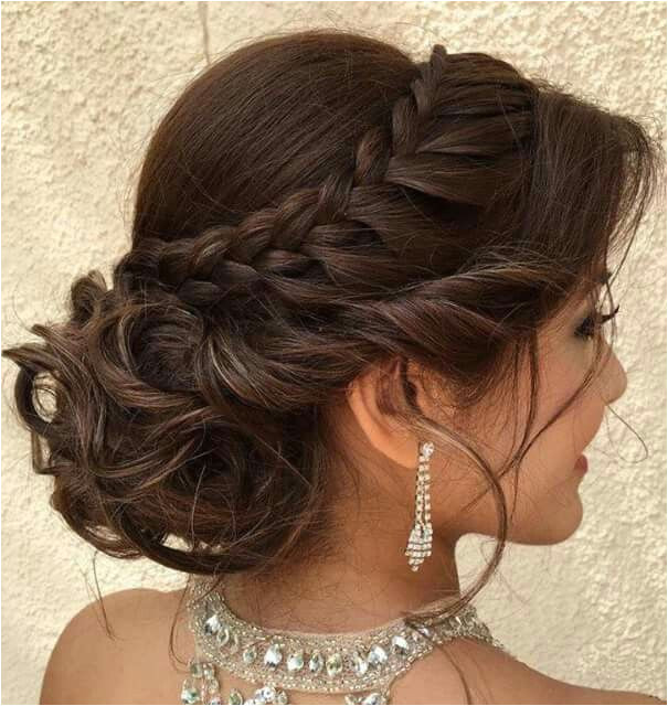 Tasteful updo with braid for wedding or formal occasion
