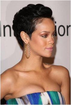 Rihanna short hair short hair cuts for women short hair styles short hair cuts natural hair jet black pixie cut red carpet